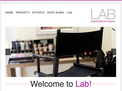 Creazione sito web Estetica e Benessere Lab Prato
