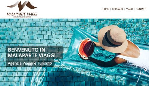 Pagina realizzazione sito web Agenzia Viaggi Malaparteviaggi