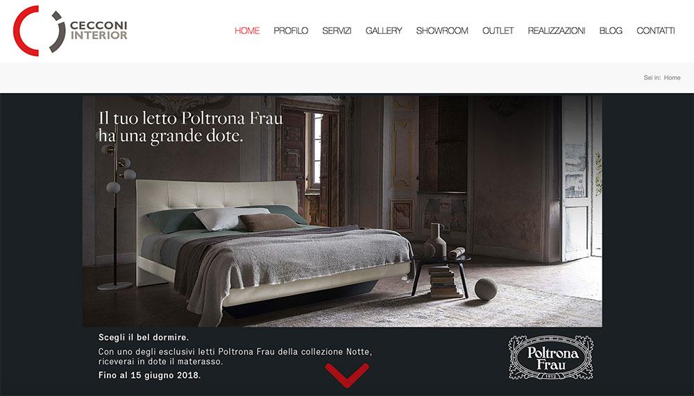 Sviluppo sito web cecconi arredamenti