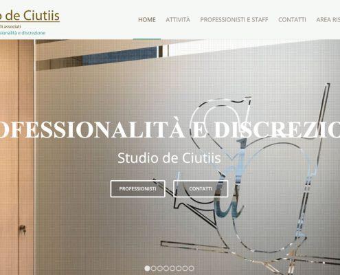 Creazione sito web Studio de Ciutiis Commercialisti Prato
