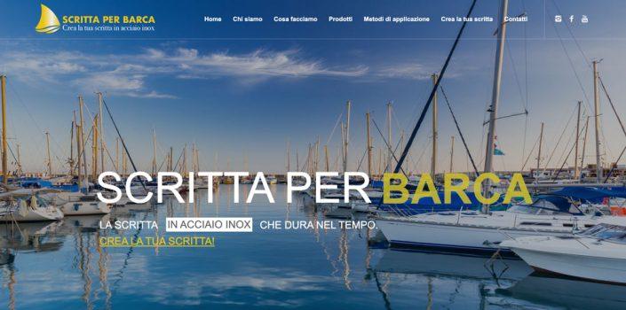 Realizzazione sito web Scritta per barca